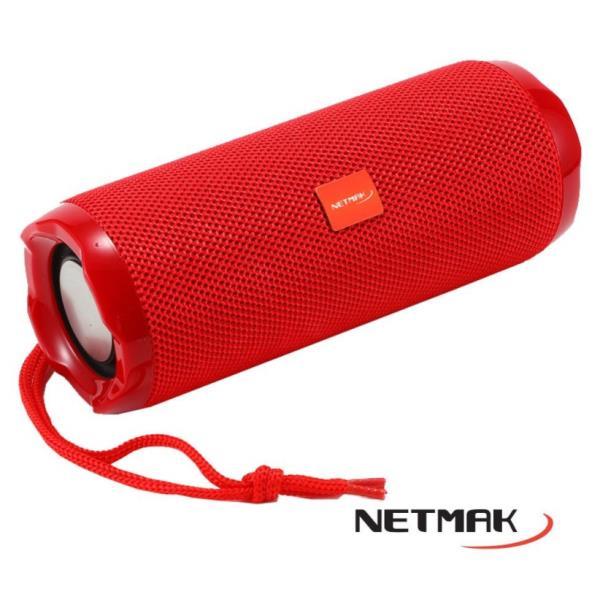 NETMAK PARLANTE FLOW PORTABLE BLUETOOTH 10W  RED NM-FLOW-R