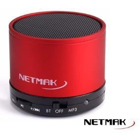 NETMAK PARLANTE BLUETOOTH C/LECTOR RED