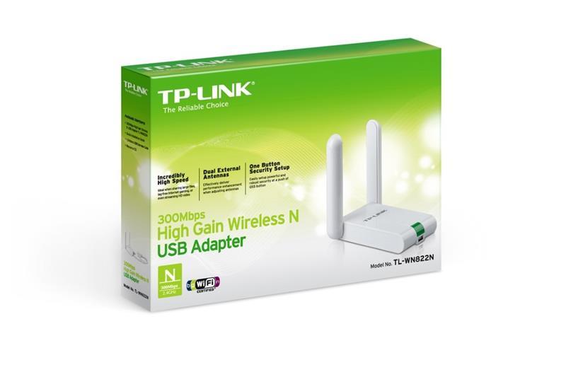 RECEPTOR DE WIFI USB TP-LINK TL-WN822N
